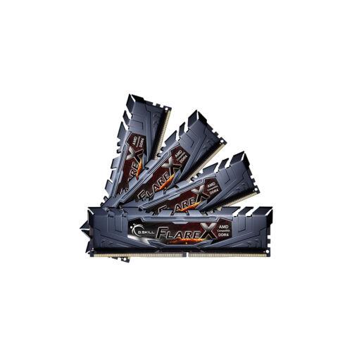 G.Skill Flare X (for AMD) F4-3200C16Q-64GFX memóriamodul 64 GB 4 x 16 GB DDR4 3200 Mhz (F4-3200C16Q-64GFX)