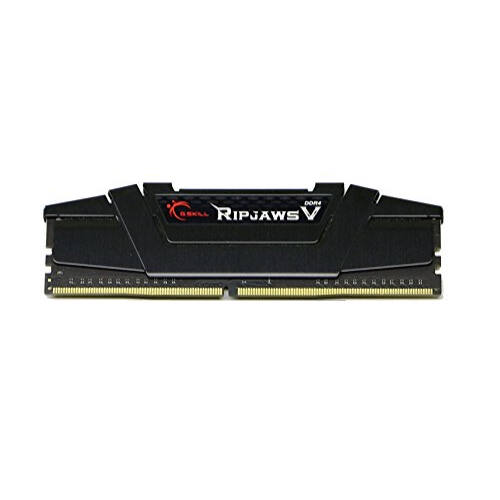 G.Skill Ripjaws V 64GB DDR4-3200Mhz - 64 GB - 4 x 16 GB - DDR4 - 3200 MHz - 288-pin DIMM - Black (F4-3200C16Q-64GVK)