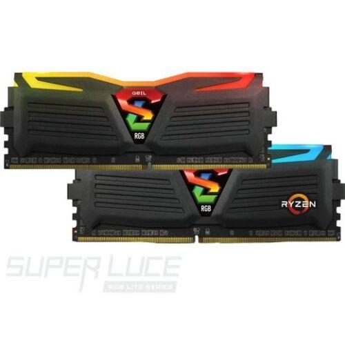 DDR4 8GB 2400MHz GeIL Super Luce Black RGB Sync CL16 KIT2 (GLS48GB2400C16DC)