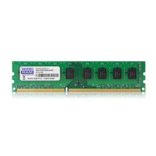 GoodRam 4GB DDR3 1333MHz - 4 GB - 1 x 4 GB - DDR3 - 1333 MHz - 240-pin DIMM (GR1333D364L9S/4G)