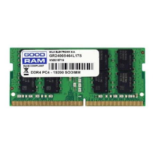 GoodRam GR2400S464L17/16G - 16 GB - 1 x 16 GB - DDR4 - 2400 MHz - 260-pin SO-DIMM - Green (GR2400S464L17/16G)