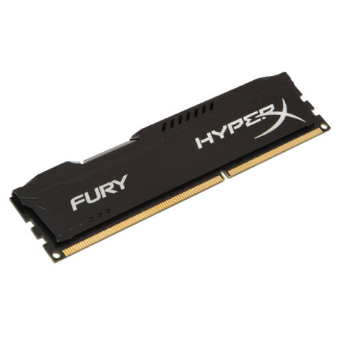 Kingston HyperX FURY Black 4GB 1333MHz DDR3 - 4 GB - 1 x 4 GB - DDR3 - 1333 MHz - 240-pin DIMM - Black (HX313C9FB/4)