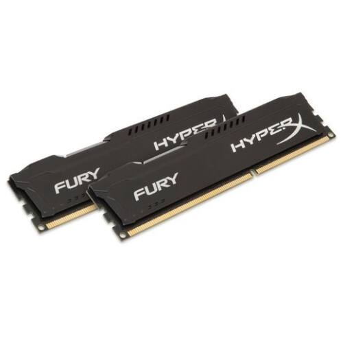 DDR3 8GB 1600MHz Kingston HyperX Fury Black CL10 KIT2 (HX316C10FBK2/8)