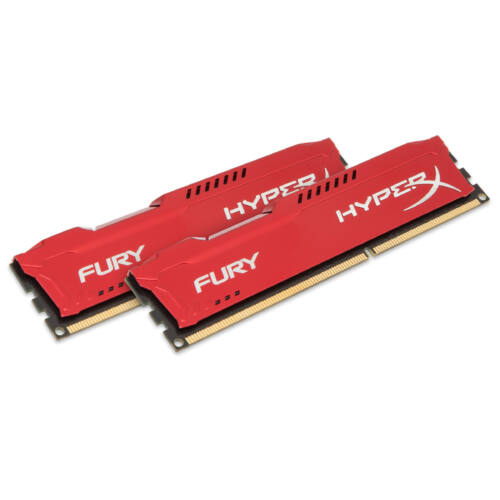 Kingston HyperX FURY Red 8GB 1866MHz DDR3 - 8 GB - 2 x 4 GB - DDR3 - 1866 MHz - 240-pin DIMM - Red (HX318C10FRK2/8)
