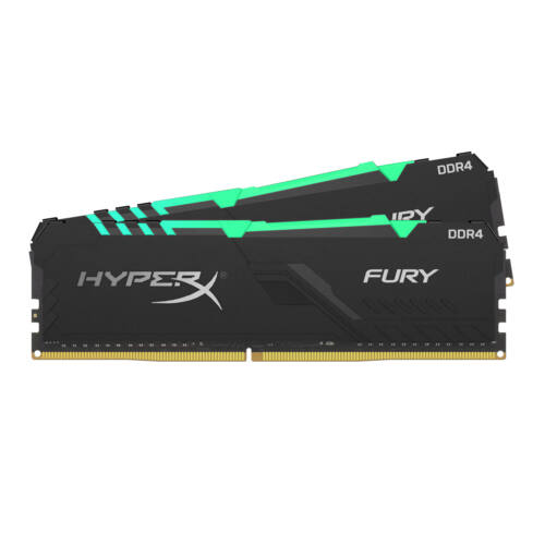 KINGSTON Memória HYPERX DDR4 32GB 3200MHz CL16 DIMM (Kit of 2) Fury RGB (HX432C16FB3AK2/32)
