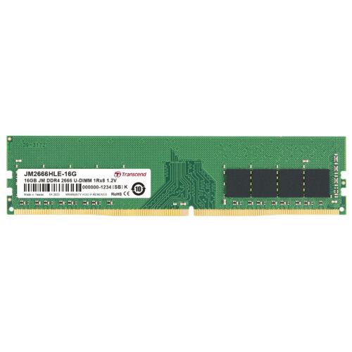 Transcend JetRam DDR4-2666 U-DIMM 16GB - 16 GB - 1 x 8 GB - DDR4 - 2666 MHz - 288-pin DIMM (JM2666HLE-16G)