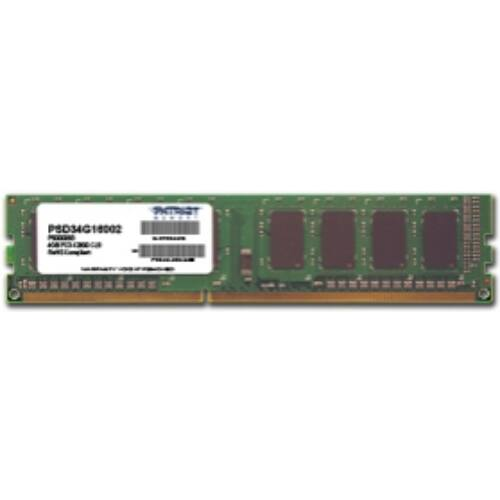 PATRIOT Memory 4GB PC3-12800 - 4 GB - 1 x 4 GB - DDR3 - 1600 MHz - 240-pin DIMM (PSD34G16002)