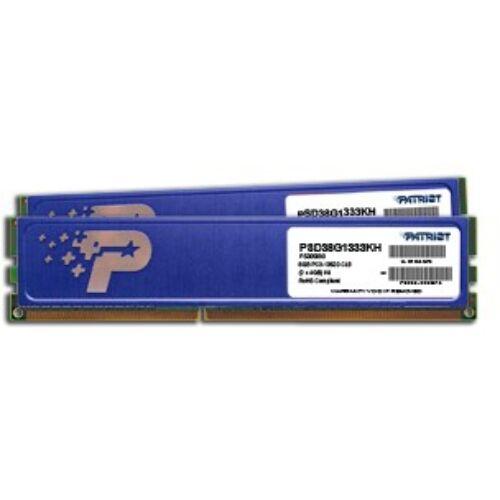 PATRIOT Memory 8GB DDR3 PC3-10600 Kit - 8 GB - 2 x 4 GB - DDR3 - 1333 MHz - 240-pin DIMM (PSD38G1333KH)