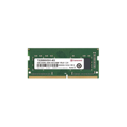 Transcend DDR4-2666 SO-DIMM 4GB - 4 GB - 1 x 8 GB - DDR4 - 2666 MHz - 260-pin SO-DIMM (TS2666HSH-4G)