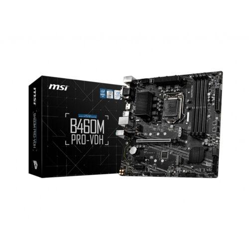 MSI B460M Pro-VDH - Intel - LGA 1200 - Intel® Celeron® - Intel® Core™ i3 - Intel Core i5 - Intel Core i7 - Intel Core i9 - Intel® Pentium® - DDR4-SDRAM - DIMM - 2666, 2933 MHz (7C83-026R)