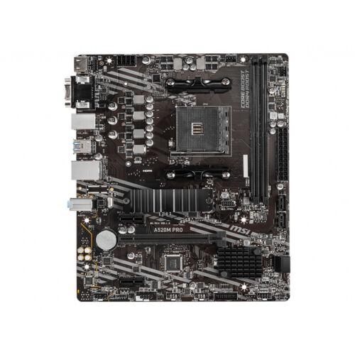 MSI A520M PRO - AMD - Socket AM4 - AMD Ryzen 3 3rd Gen - 3rd Generation AMD Ryzen 5 - 3rd Generation AMD Ryzen 7 - 3rd Generation AMD... - DDR4-SDRAM - DIMM - 1866, 2133, 2400, 2667, 2800, 2933, 3000, 3066, 3200, 3466, 3600, 3733, 3866, 4000, 4133, 4266,