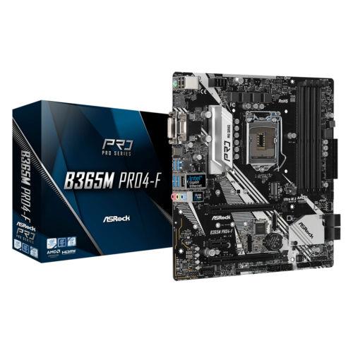 ASRock B365M PRO4-F - Intel - LGA 1151 (Socket H4) - Intel® Core™ i3 - Intel Core i5 - Intel Core i7 - DDR4-SDRAM - DIMM - 2133, 2400, 2666 MHz (90-MXBB30-A0UAYZ)