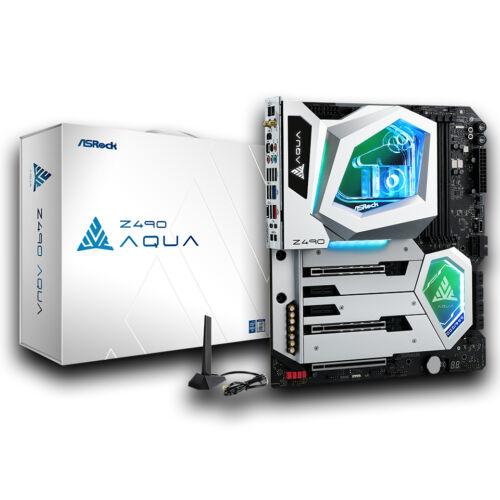 ASRock Z490 Aqua - Intel - Intel® Celeron® - Intel® Core™ i3 - Intel Core i5 - Intel Core i7 - Intel Core i9 - Intel® Pentium® - DDR4-SDRAM - DIMM - 2133, 2400, 2666, 2800, 2933, 3200, 3600, 3733, 3800, 3866, 4000, 4133, 4266, 4333, 4400, 4500,
