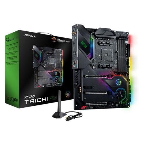 ASRock X570 Taichi Razer Edition - AMD - Socket AM4 - AMD Ryzen 3 - AMD Ryzen 5 - AMD Ryzen 7 - 3rd Generation AMD Ryzen 9 - DDR4-SDRAM - DIMM - 2133, 2400, 2667, 2933, 3200, 3466, 3600, 3733, 3800, 3866, 4000, 4133, 4200, 4266, 4333, 4400, 4466, 4533, 46