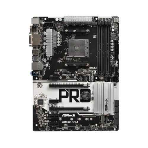 ASRock AB350 Pro4 ATX Motherboard - AM4 AMD B350 - 64 GB DDR4 (90-MXB510-A0UAYZ)