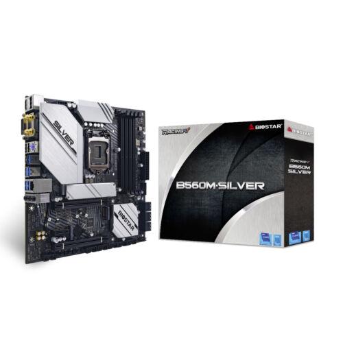 Biostar B560M-SILVER alaplap Intel B560 LGA 1200 Micro ATX (B560M-SILVER)
