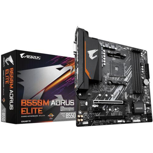 Gigabyte B550M AORUS ELITE - AMD - Socket AM4 - AMD Ryzen - DDR4-SDRAM - DIMM - 2133, 2400, 2667, 2933, 3200, 3333, 3600, 4000, 4400, 4600, 4733 MHz (GA-B550M-AOURUS ELITE)