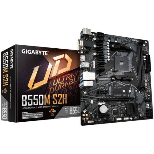 Gigabyte B550M S2H - AMD - Socket AM4 - AMD Ryzen - DDR4-SDRAM - SO-DIMM - 2133, 2400, 2667, 2933, 3200, 3333, 3600, 4000, 4400, 4600, 4866, 5000 MHz (GA-B550M-S2H)