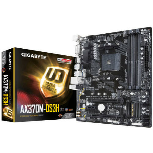 Gigabyte GA-AX370M-DS3H (REV 1.1) (AM4) (D) (GA-X370M-DS3H)