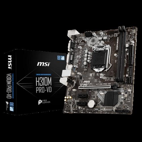 MSI Alaplap S1151 H310M PRO-VD Intel H310, mATX (H310M PRO-VD)
