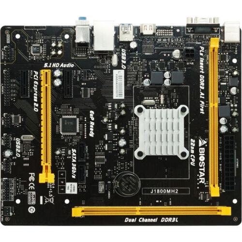 Biostar J1800MH2 Ver. 6.x - Intel - BGA 1170 - Intel® Celeron® - 2.41 GHz - DDR3-SDRAM, DDR3L-RS-SDRAM - DIMM (J1800MH2)