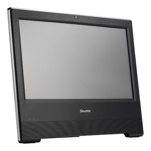 "Shuttle XPC all-in-one X50V7 Fekete Intel® SoC BGA 1528 39,6 cm (15.6"") Beépített hangszóró(k) Érintőképernyő 1366 x 798 pixelek 4205U 1,8 GHz LCD (PAB-X50V712)"