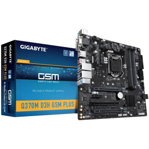 Gigabyte Q370M D3H GSM Plus Intel Q370 LGA 1151 (H4 aljzat) Micro ATX (Q370M D3H GSM PLUS)