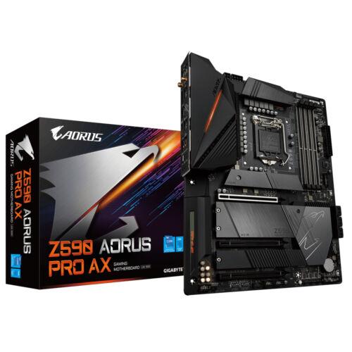 Gigabyte Z590 AORUS PRO AX - Intel - LGA 1200 - Intel® Celeron® - Intel® Core™ i3 - Intel Core i5 - Intel Core i7 - Intel Core i9 - Intel® Pentium® - DDR4-SDRAM - DIMM - 2133, 2400, 2666, 2933, 3000, 3200 MHz (Z590 AORUS PRO AX)