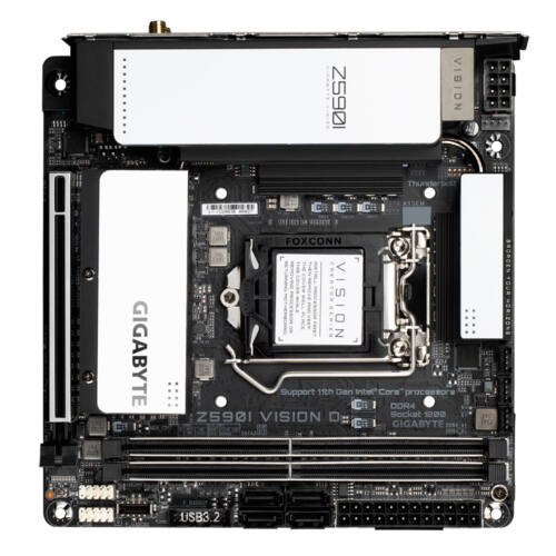 Gigabyte Z590I VISION D alaplap Intel Z590 Express LGA 1200 mini ITX (Z590I VISION D)