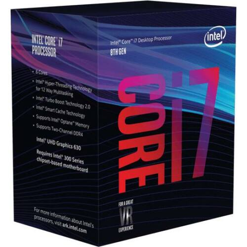 Intel Tray Core i7 Processor i7-8700 3,20Ghz 12M Coffee Lake Tray (CM8068403358316)