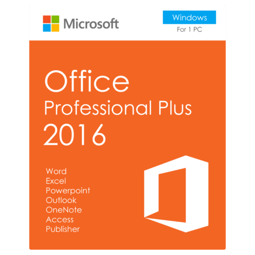 DOBOZOS VERZIÓ Microsoft Office Professional Plus 2016 ÚJ LICENSZ (269-16805)