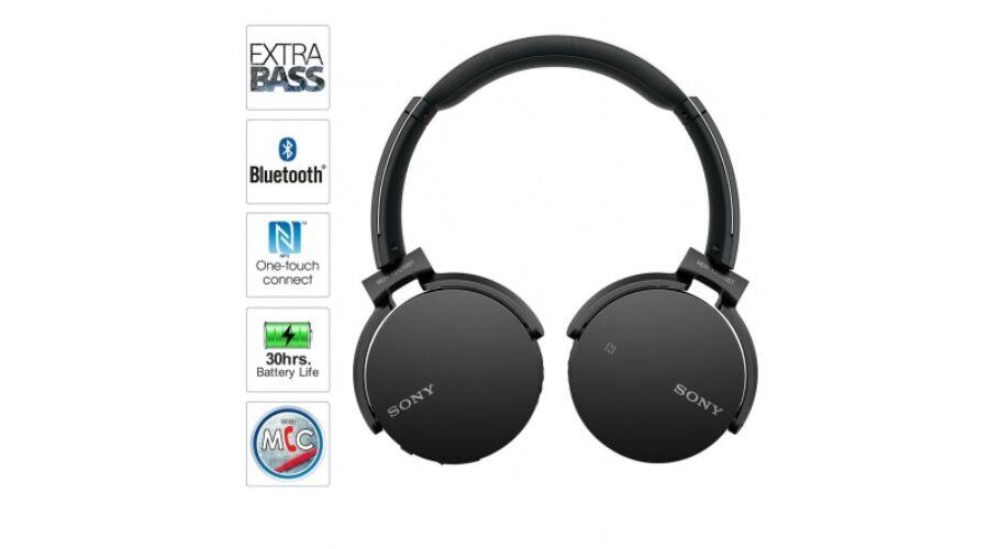 Sony MDR-XB650BT (Fekete) Vezeték nélküli bluetooth fejhalgató  (MDRXB650BTB.CE7) ffac02fc1c